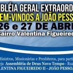 Assembleia Geral Extraordinária – João Pessoa