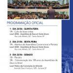 Programação da Assembleia Convencional 2019 em São Paulo